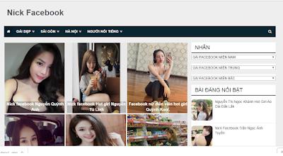Theme Blog Show hình đẹp - nickfacebook.com