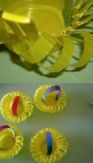 Plastik Bardaklardan Süsleme Yapımı