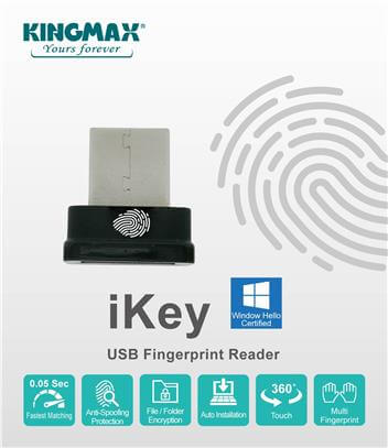 Kingmax iKey is a Tiny USB Fingerprint Reader Designed for Windows