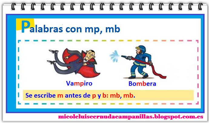Segundos de eulza palabras con mp y mb for Mp mb scuola primaria