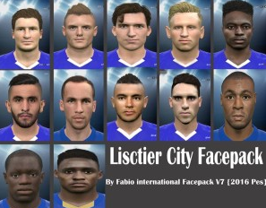 Pes 2016 new face Leicester City by Facemaker Fabio