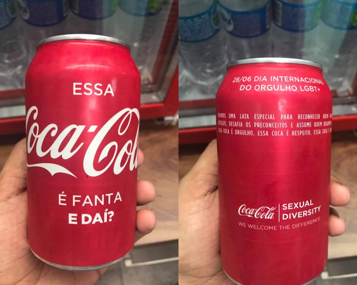 'É Fanta, e daí?': Coca-Cola estampa latinha contra homofobia e celebra orgulho LGBT