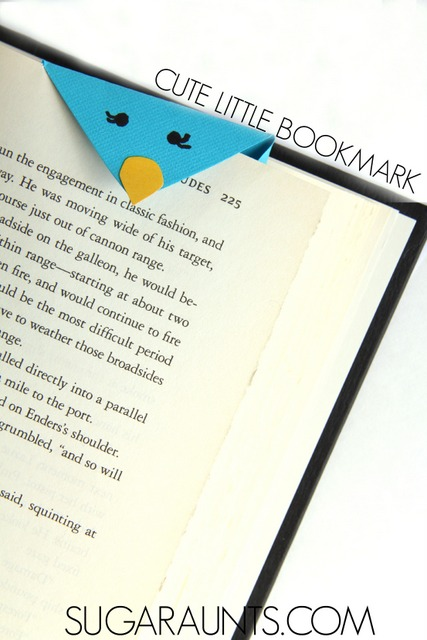 Paper bird bookmark craft