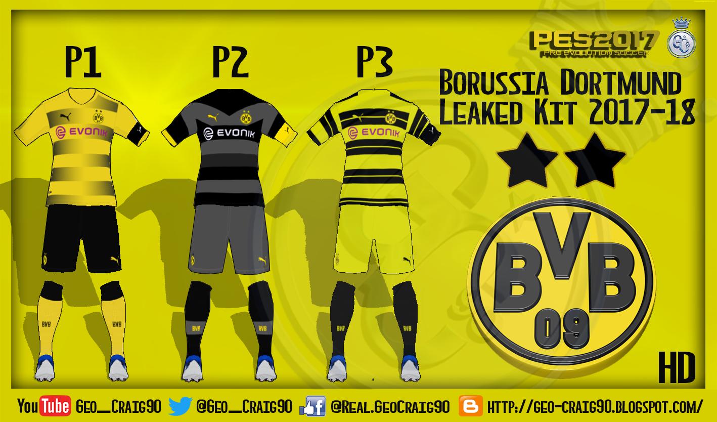e99cbdc7b PES 2017 Borussia Dortmund Kit 2017-18 HD [LEAKED]. High Definition Quality  Kits. LINK: DOWNLOAD