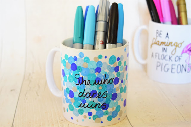 What Cat Says - Lifestyle | DIY Sharpie Mugs