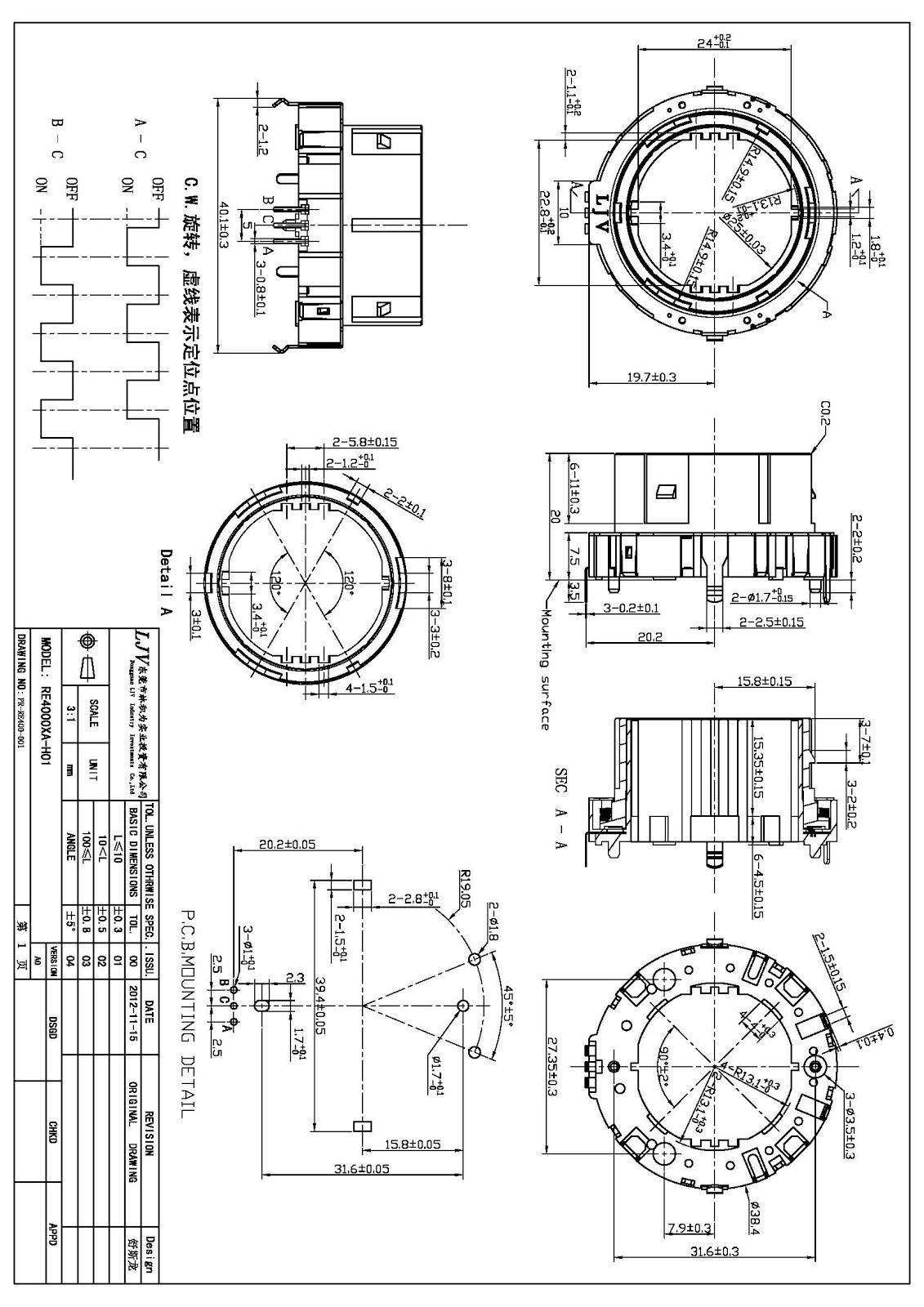 Ljv Encoders Potentiometers Amp Switch Ljv Rotary Hollow