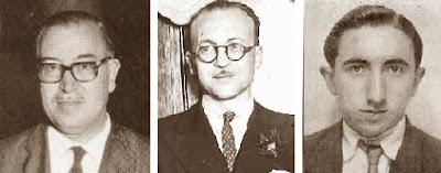 Los ajedrecistas Pere Cherta, Rafael Llorens y Romà Bordell