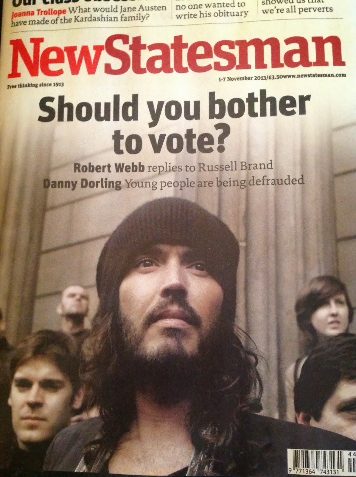 Russel Brand on New Statesman cover