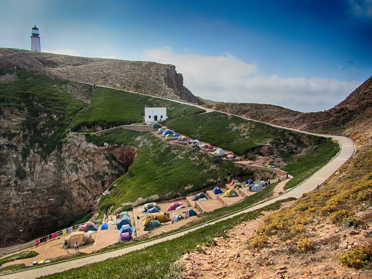 Tendas no Parque de Campismo das Berlengas