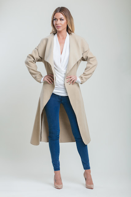 Camel Coat, Waterfall Coat, Cari's Closet, Dresses for Hire, Fashion, Irish Boutique's, Sequin Dresses, Black Tie Event Dresses