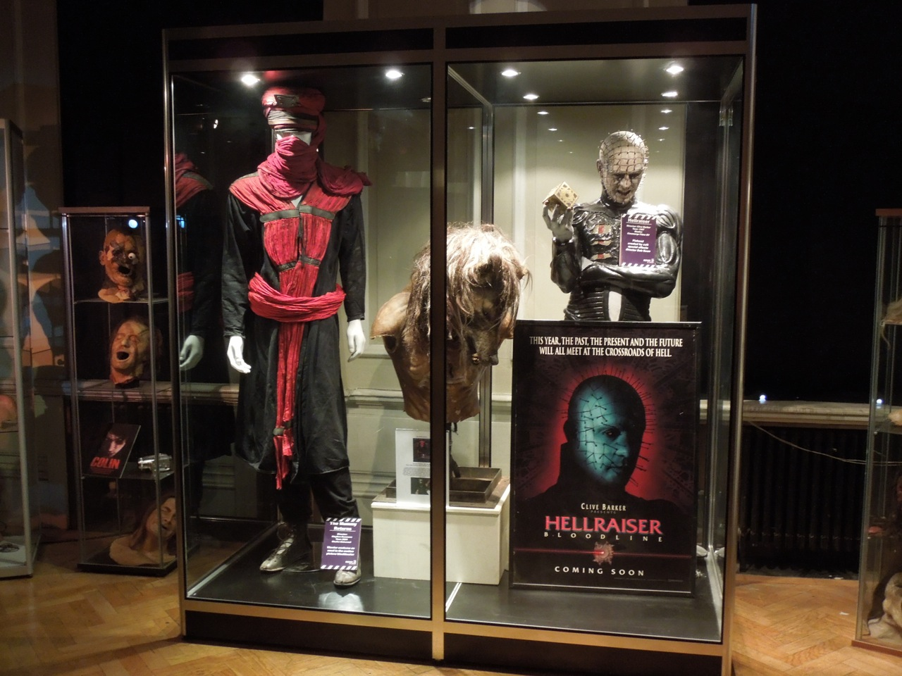 Horror movie memorabilia