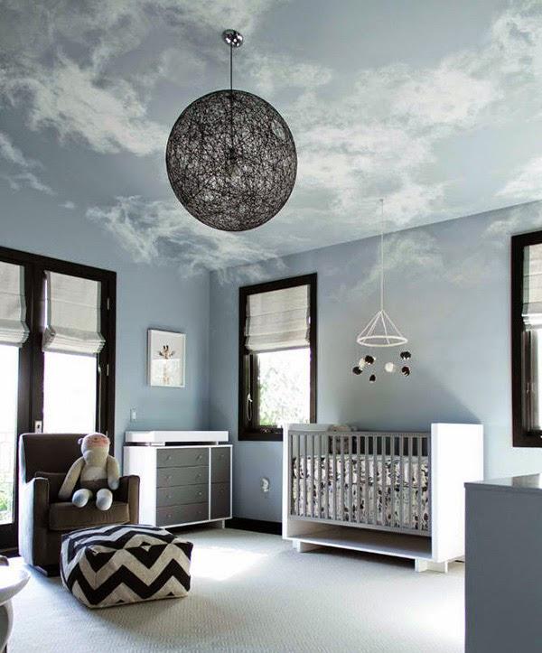 cuarto para bebé celeste