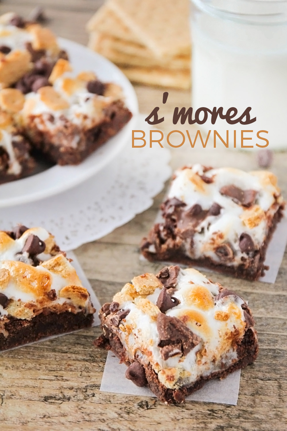 These luscious and decadent s'mores brownies are out of this world amazing!