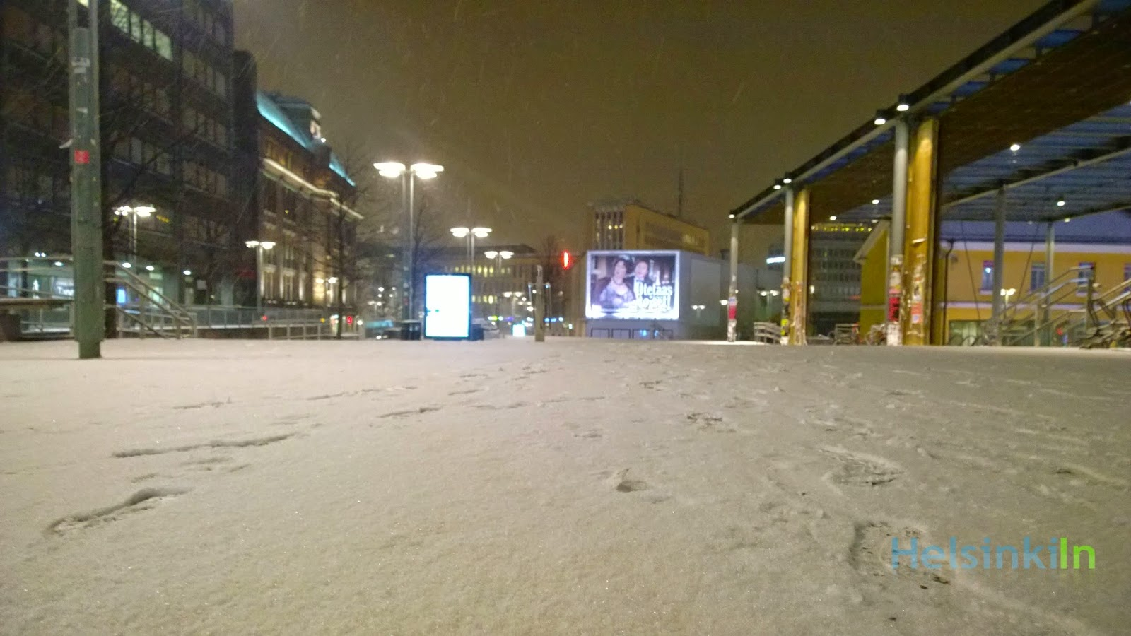 snow in Kamppi
