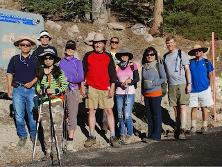 Hikemasters group ready to hike Waterman Trail