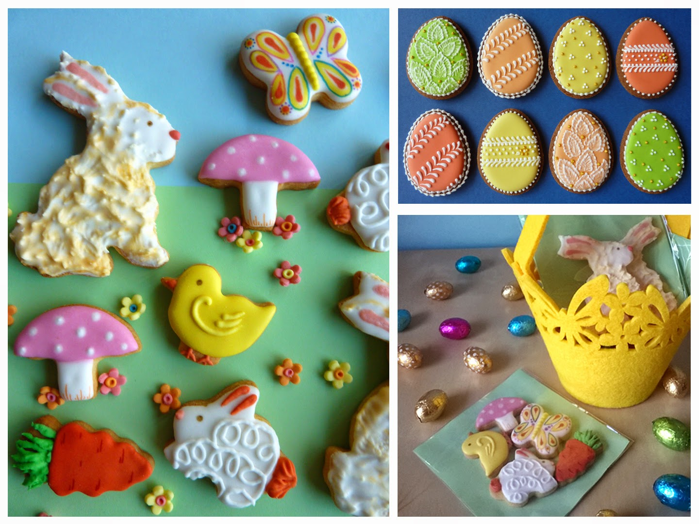 Easter sugar cookies and gift basket