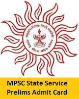 MPSC State Service Prelims Admit Card