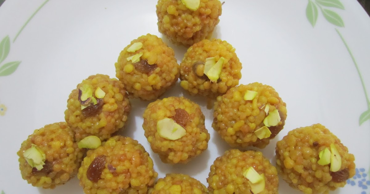 All Marathi Recipes Boondi Bundi Kali Ladoo