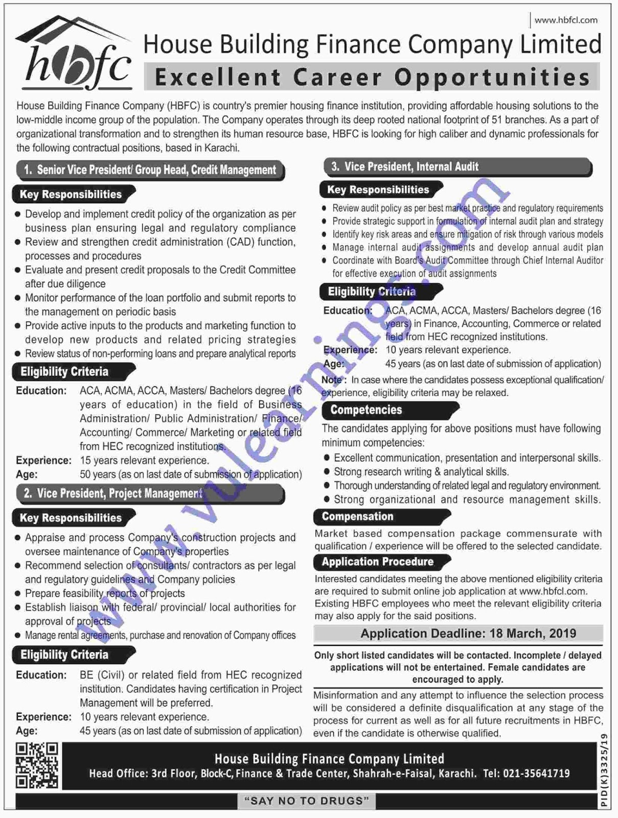 Job in House Building Finance Company Limited