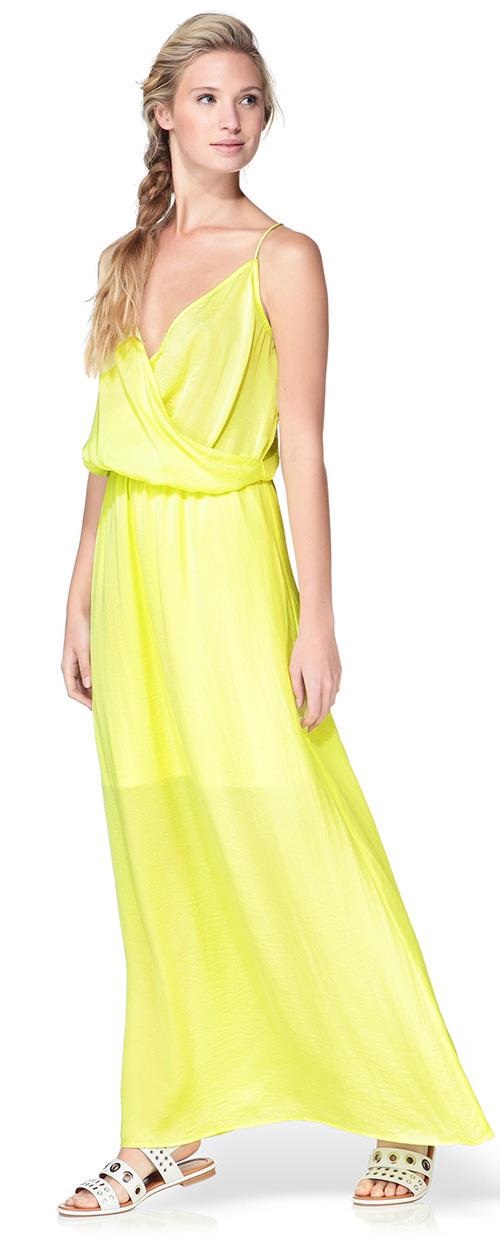 Robe longue jaune d'été Vero Moda