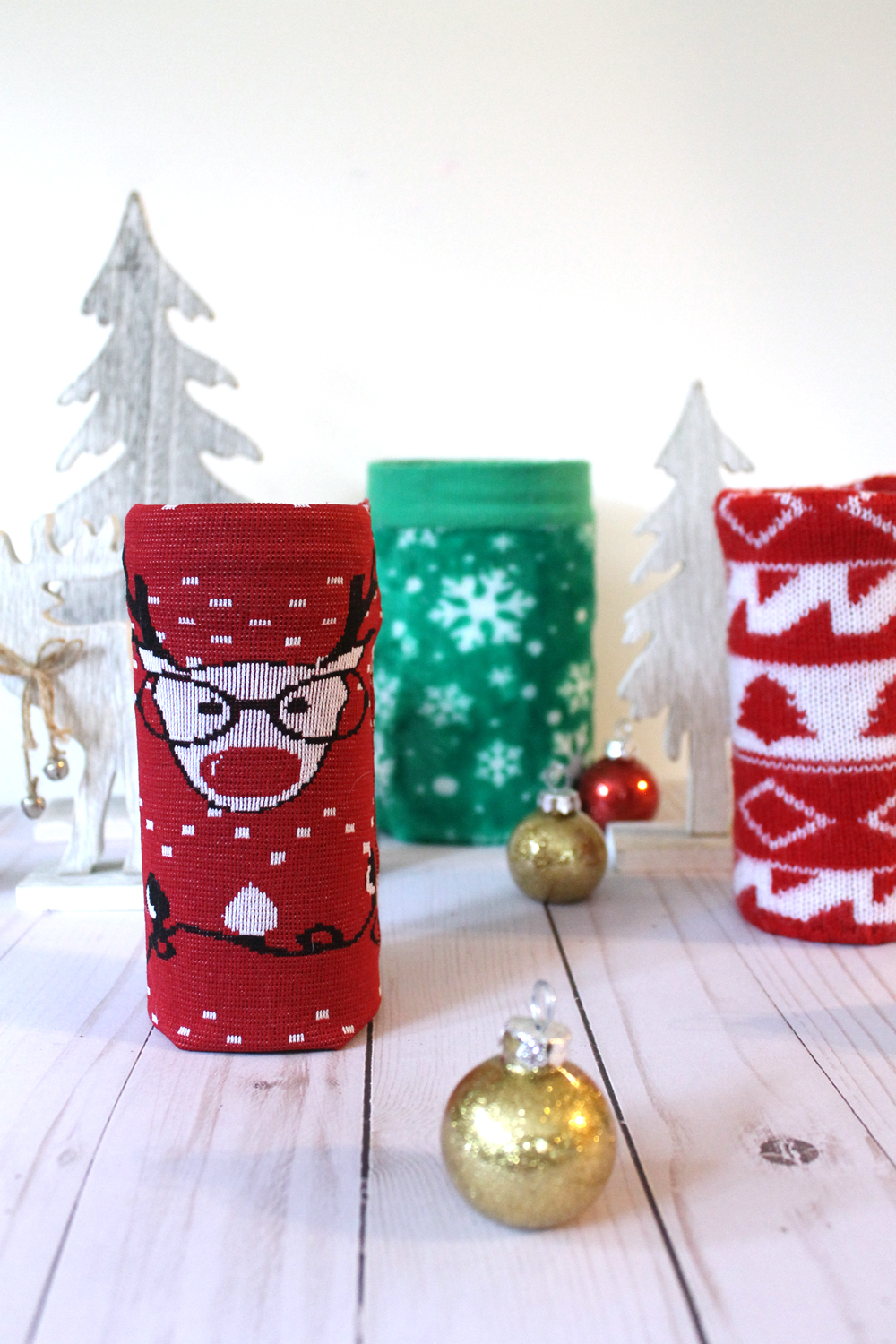 DIY Ugly Christmas Sweater Tins