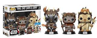 Funko Pop! 3-pack Ewoks 3-pack - Teebo, Chirpa, Logray