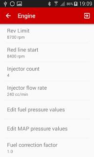 hondash app car engine settings