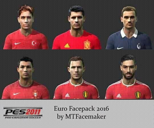 Ultigamerz Pes 2010 Pes 2011 Face: Ultigamerz: PES 2010/PES 2011 Euro 2016 Face Pack
