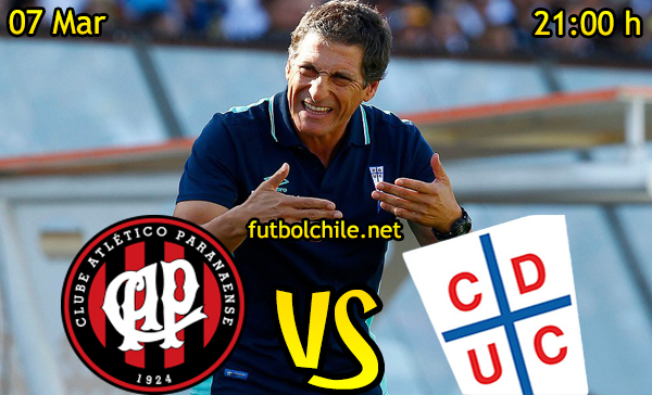 Ver stream hd youtube facebook movil android ios iphone table ipad windows mac linux resultado en vivo, online: Atlético Paranaense vs Universidad Católica