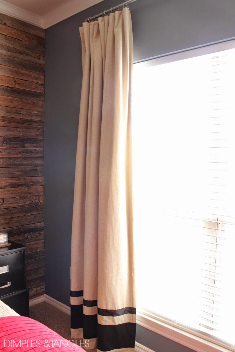 Customizing Ikea Curtains And A Diy Industrial Curtain Rod