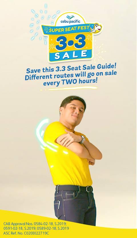 Cebu Pacific Seat Sale on March 3, 2019