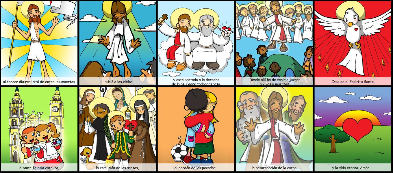 Mandamientos Del Matrimonio Catolico : Dibujos para catequesis el credo parte