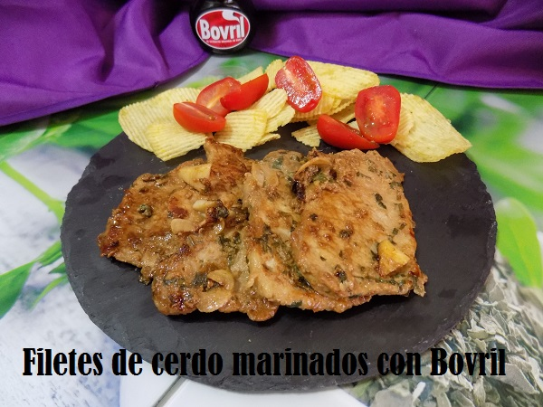 Filetes de cerdo marinados con Bovril