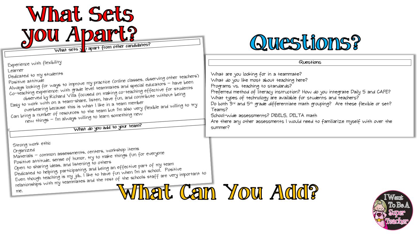 Rock Your Teacher Interview Tips Questions Amp Portfolios
