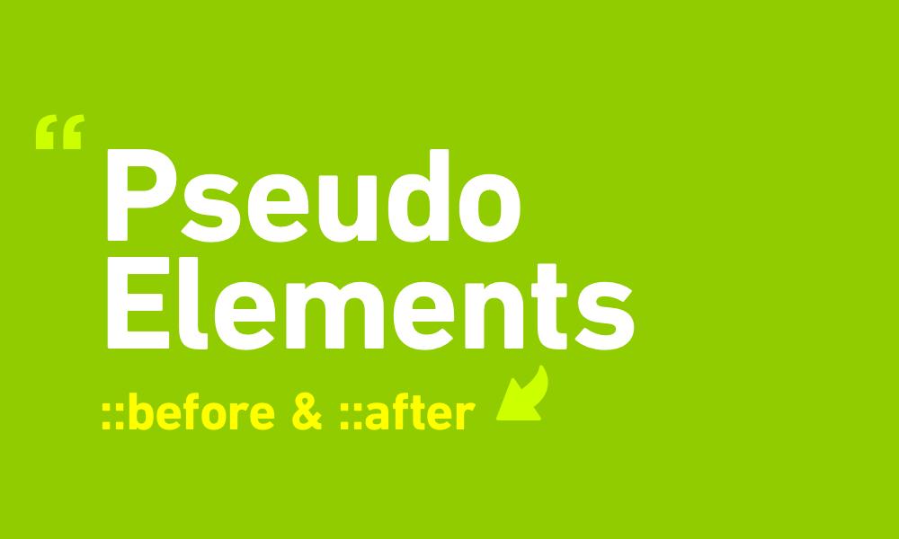 Memahami Css Pseudo Element :before dan :after