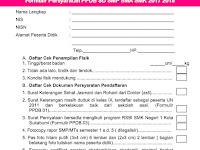 Formulir Persyaratan PPDB SD SMP SMA SMK 2017 2018
