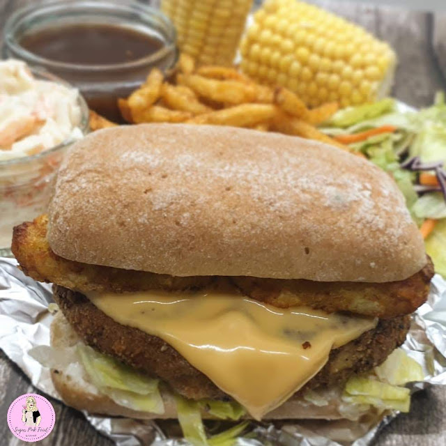 KFC Style Zinger Tower Burger Recipe | Slimming Friendly Fakeaway,  low calorie recipe, low caloire meals, low calorie dinner, slimming food,   fakeaway recipe, fakeaway food, fakeaways