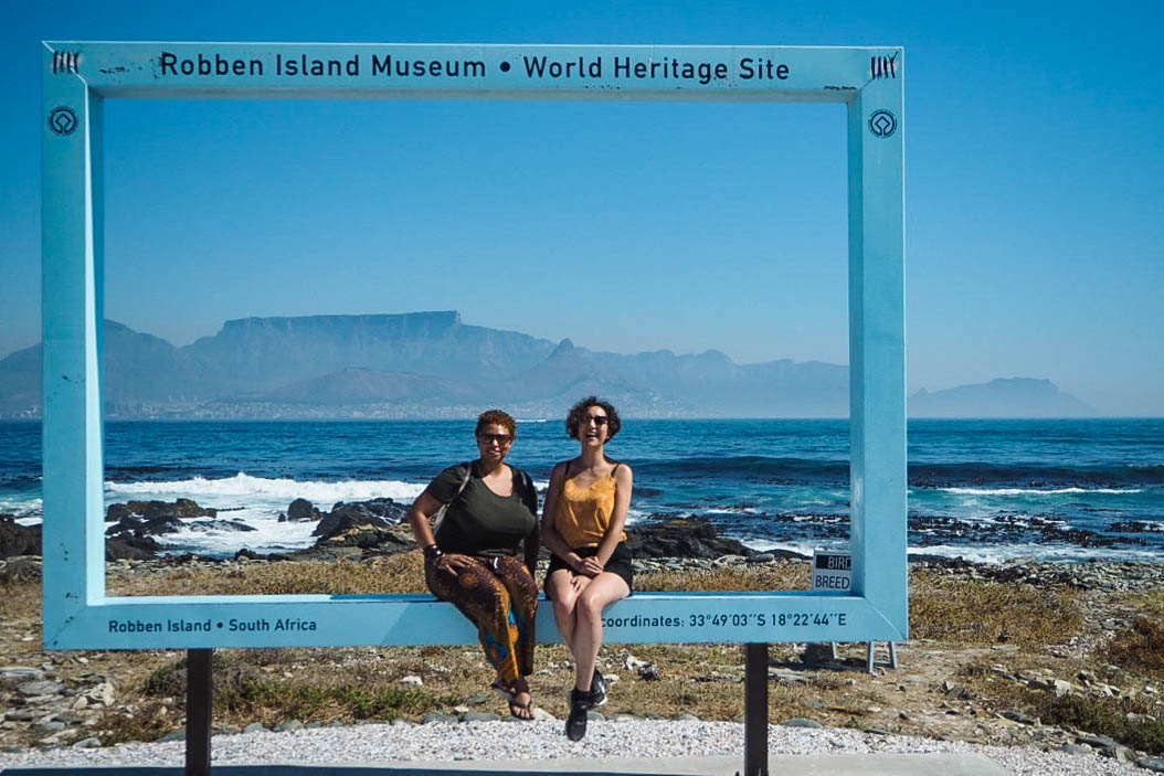 View of Table Mountain from Robben Island, Cape Town