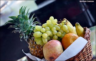 Fruits in House boat Kumarakom alleppey