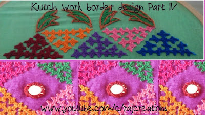 how to stitch border design in kutch work