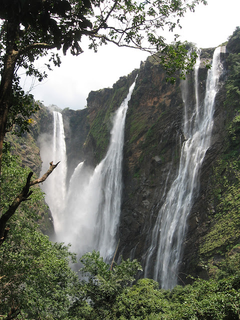 Close up of Jog Falls