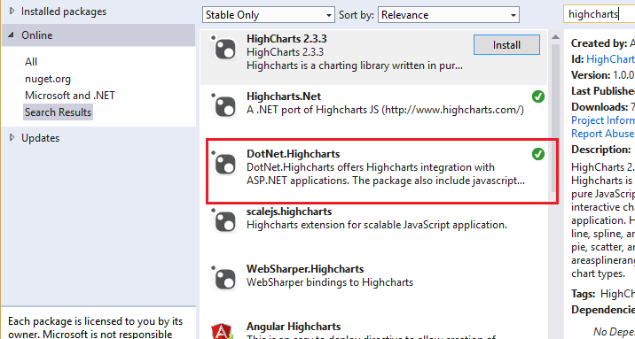 How to Use Highcharts Chart Rotation JS with ASP NET MVC 5