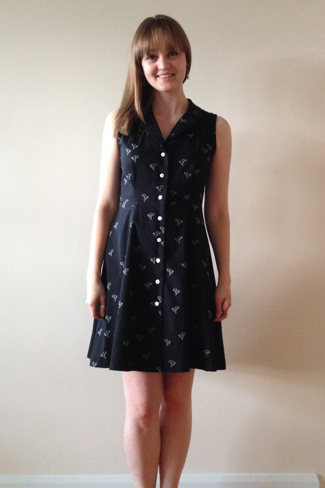 a7a8120ec54fe Diary of a Chain Stitcher  Sew Over It Vintage Shirt Dress in Atelier  Brunette Origami