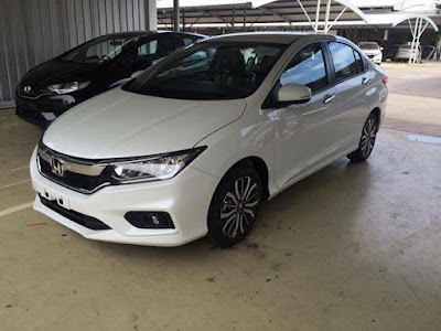 All New 2017 Honda City facelift Version White wallpaper