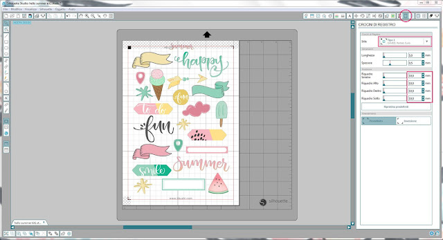 Come utilizzare i file print & cut | Silhouette Cameo step2