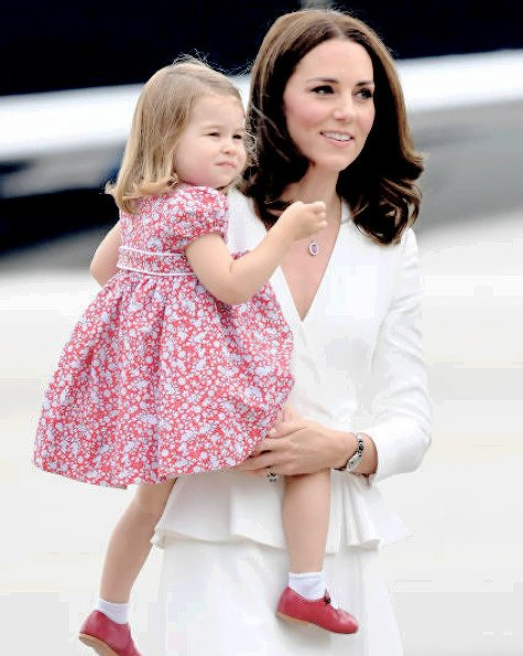 Kate Middleton wore ALEXANDER MCQUEEN Wool and silk-blend twill peplum coat. Princess Charlotte, Prince George