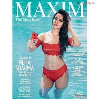 Neha Sharma in Bikini for MAXIM August 2018 Bollywood Bikini Special Exclusive Pics 003