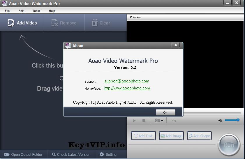 Aoao Video Watermark Pro 5.2 Full Key bản quyền,Phần mềm chèn Watermark vào Video