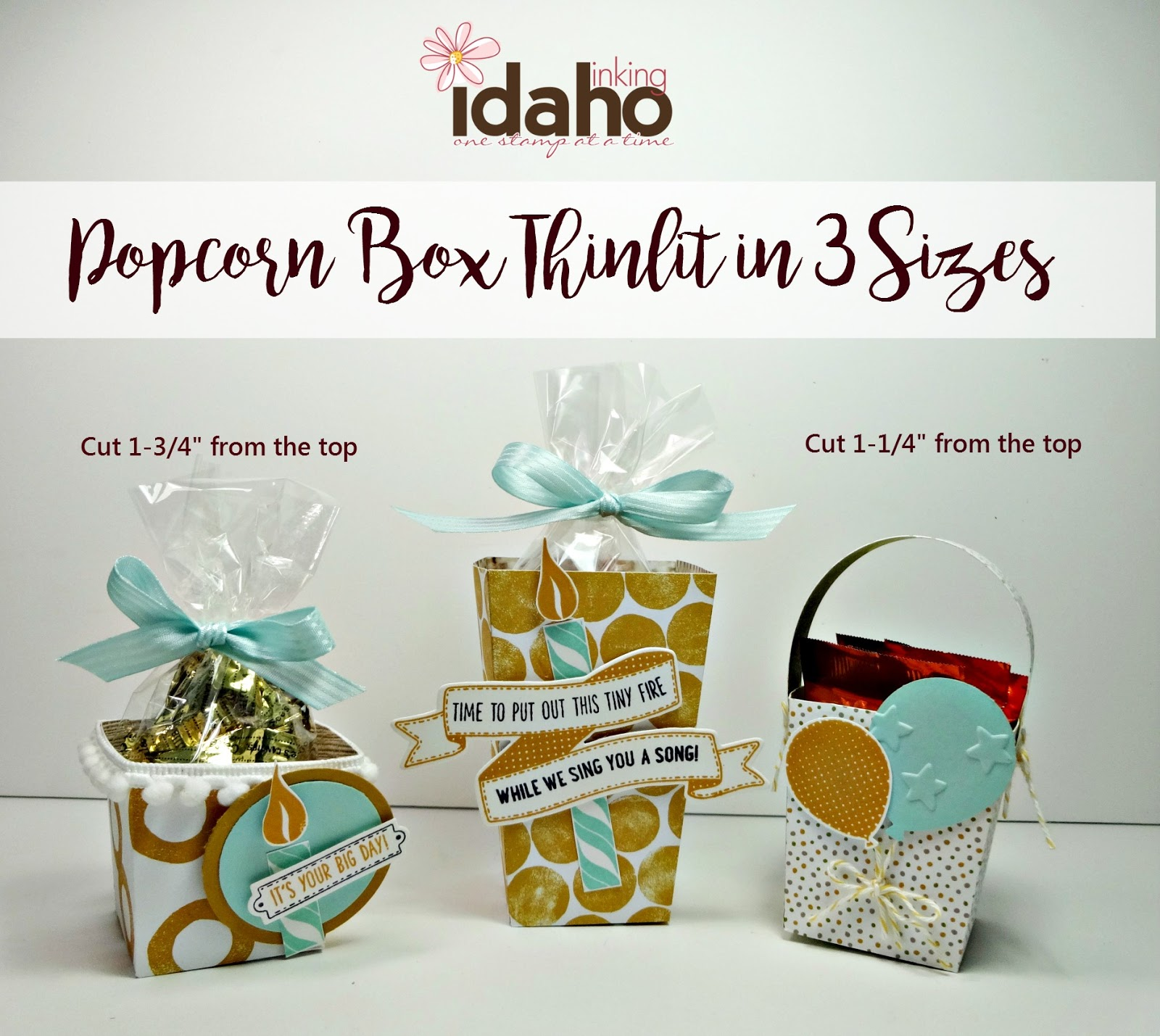 Inking Idaho: Popcorn Box in 3 Sizes