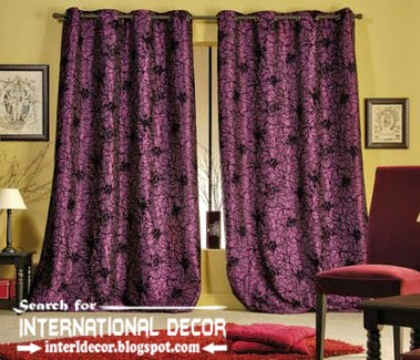 Largest Catalog Of Purple Curtains And Drapes Blackout Embossed Fabric